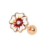 Nordik Piercing: Studio de piercing dans le 76: micro-barbell doré hibiscus