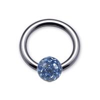 Nordik Piercing: Boutique en Ligne: Anneau Swarovski bleu