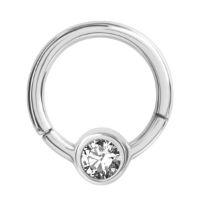 Nordik Piercing: Anneau 1,2 mm charnière cristal couleur