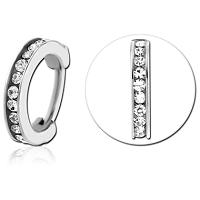 Nordik Piercing: Vente de bijoux de piercing dans le 76: anneau à charnière strass blanc