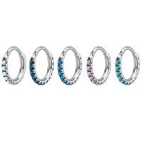 Nordik Piercing: Studio de piercing dans le 76: Anneaux à charnière avec opales de différentes couleurs