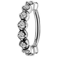 Nordik Piercing: Studio de piercing dans le 76: anneau à charnière avec cristaux blancs