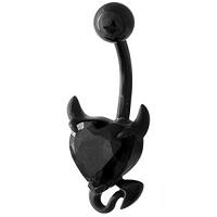 Nordik Piercing: Boutique en Ligne: Banane coeur de diable noir