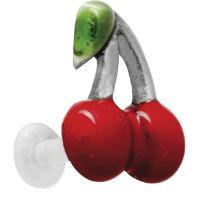 Nordik Piercing: Micro labret bioplast piercing lèvre ou cartilage cerises