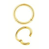 Nordik Piercing: Studio de piercing dans le 76: anneau en acier doré à l`or fin à charnière