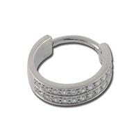 Nordik Piercing: Boutique en Ligne: Clicker zirconium Swarovski blanc