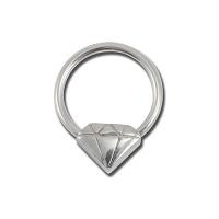 Nordik Piercing: Boutique en Ligne: Anneau BCR motif diamant
