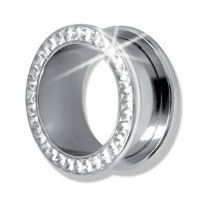 Nordik Piercing: Plug piercing oreille cristal Swarovski du 3 au 30 mm