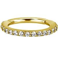 Nordik Piercing: Studio de piercing et vente de bijoux de piercings dans le 76: Anneau doré à charnière Swarovski pour piercing