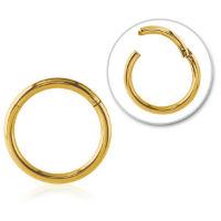 Nordik Piercing: Anneau à charnière doré à l`or fin piercing segment ring