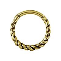 Nordik Piercing: Boutique en Ligne: Anneau doré à l`or fin à charnière
