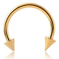 Nordik Piercing: Boutique en Ligne de Piercings: Micro fer à cheval doré à pointes