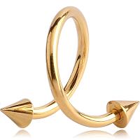 Nordik Piercing: Boutique en Ligne: Micro-spirale dorée pointes