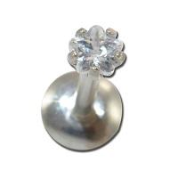 Nordik Piercing: Studio de piercing dans le 76: Micro-labret interne en acier avec étoile en cristal griffé pour piercings