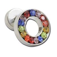Nordik Piercing: Boutique en Ligne: Micro-labret avec rond en cristal arc-en-ceil