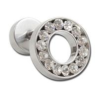 Nordik Piercing: Boutique en Ligne: Micro-barbell avec rond en cristal blanc