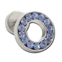 Nordik Piercing: Boutique en Ligne: Micro-labret avec rond en cristal bleu