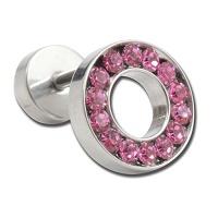Nordik Piercing: Boutique en Ligne: Micro-labret avec rond en cristal rose