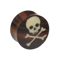 Nordik Piercing: Plug bois et os pirate de 8 à 28 mm