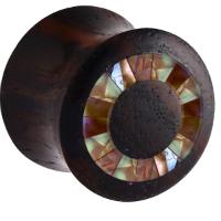 Nordik Piercing: Plug piercing oreille bois de rose de 6 à 20 mm mosaque synthétique