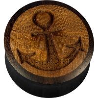 Nordik Piercing: Boutique en Ligne: Plug en bois ancre du 6 au 24 mm