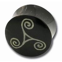 Nordik Piercing: Boutique en Ligne: Plug Triskell corne et os