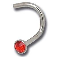 Nordik Piercing: Studio de piercing dans le 76: stud acier cristal rouge