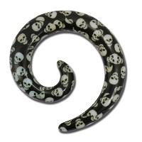 Nordik Piercing: Boutique en Ligne: Spirale têtes de mort du 3 au 8 mm