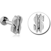 Nordik Piercing: Boutique en Ligne: Micro-barbell dollar