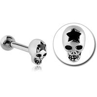 Nordik Piercing: Boutique en Ligne: Micro-barbell tête de mort étoile