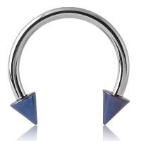Nordik Piercing: Boutique en Ligne: Barbell circulaire avec pointes de couleurs