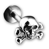 Nordik Piercing: Boutique en Ligne: Micro-labret tête de mort