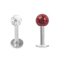 Nordik Piercing: Studio de piercing dans le 76: micro-labret boule multistrass