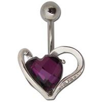Nordik Piercing: Boutique en Ligne: Banane coeur cristal violet