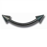 Nordik Piercing: Studio de piercing dans le 76: micro-banane pointes en acier noir pour piercing arcade