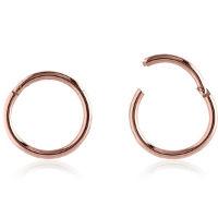 Nordik Piercing: Anneau piercing segment or rose avec ouverture à charnière