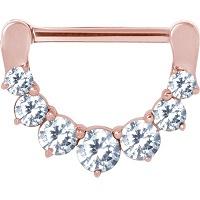 Nordik Piercing: Boutique en Ligne: Bijou de téton or rose charnière cristal