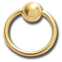 Nordik Piercing: Mini anneau acier doré or fin