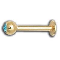 Nordik Piercing: Boutique en Ligne: Micro labret doré cristal couleurs