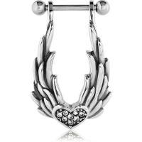 Nordik Piercing: Micro barbell piercing cartilage oreille ailes coeur