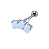 Nordik Piercing: Boutique en Ligne: Micro-barbell argent 3 opales