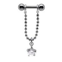 Nordik Piercing: Boutique en Ligne: Piercing cartilage chaîne cristal blanc