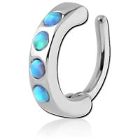 Nordik Piercing: Boutique en Ligne: Rook clicker strass opale turquoise