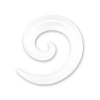 Nordik Piercing: Boutique en Ligne: Spirale acrylique blanc